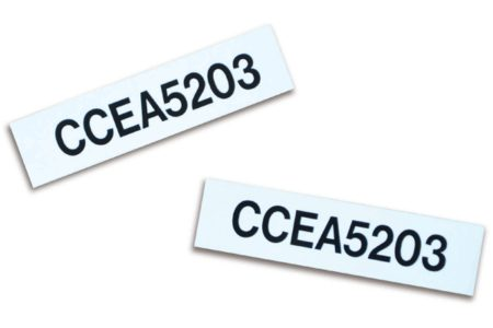 MS-478 with MS-1000 Cable Markers from Marking Services are the ideal solution for identifying smooth sided cable trays.