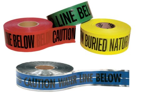 Marking Services offers various options for underground warning tape.