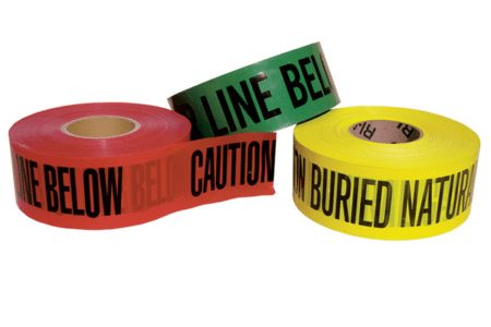 Color-coded non-detectable underground warning tape from Marking Services