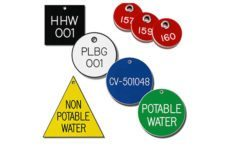 Marking Services Canada engraved plastic valve tags