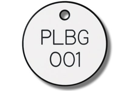 MSC offers engraved plastic valve tags for color coding valves, equipment and instrumentation.