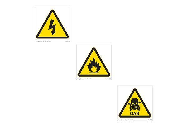 Marking Services International Safety Warning Signs Feature Symbols