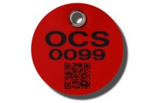 Customization including QR coding and barcode are available on MS-215 Max-Tek Valve Tags from Marking Services Canada